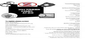 2014 Summer Camps Flyer