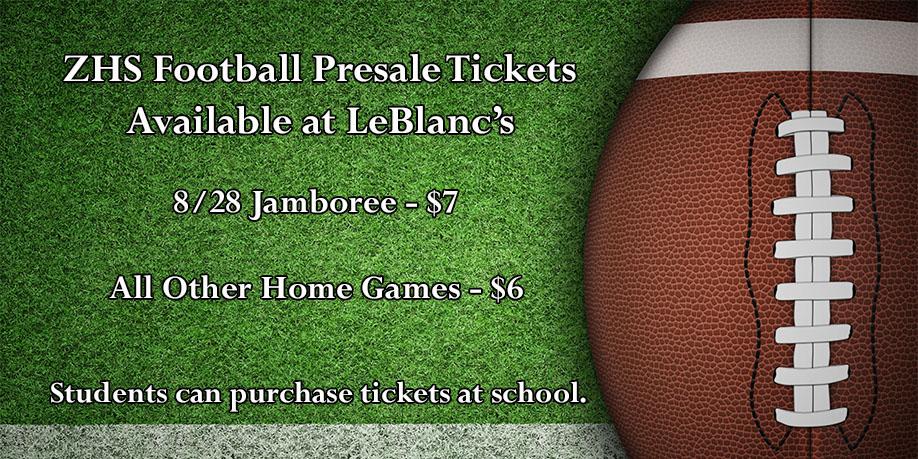 Football Presale Tickets at Leblancs